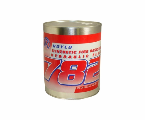 ROYCO� 782 Red MIL-PRF-83282D Spec Synthetic Fire Resistant Aircraft Hydraulic Fluid - Gallon Can
