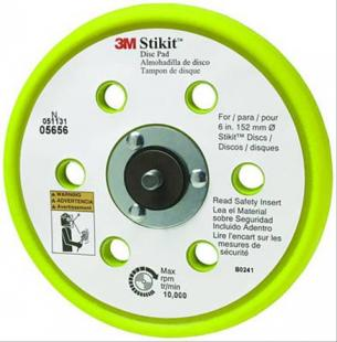 "3M 051131-05656 Stikit Clean Sanding Low Profile Dust Free Disc Pad - 6"" x 3/8"" - 5/16-24 External - 10 Pads/Case"