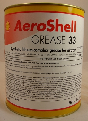 AeroShell� Grease 33 Universal Airframe Synthetic Aircraft Grease - 3 Kg (6.6 lb) Can