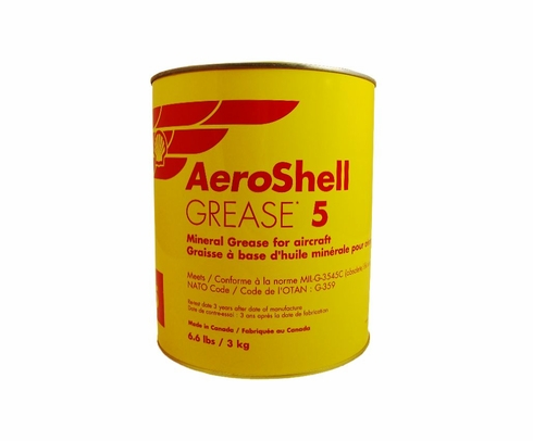 AeroShell� Grease 5 High-Temperature Mineral Aircraft Grease - 3 Kg (6.6 lb) Can