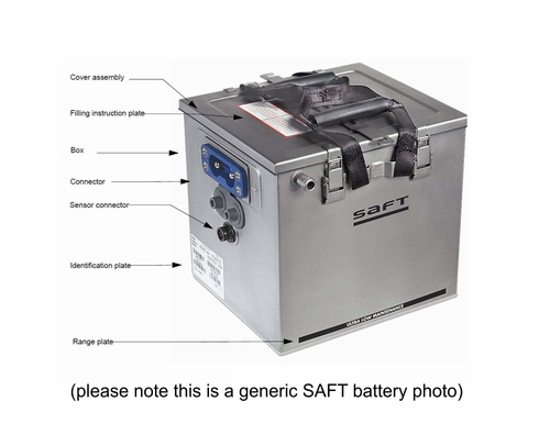SAFT 411814 Model 7AHCIBLEX10 Nicad Battery Assembly
