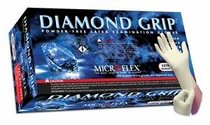 Microflex MF-300 Diamond Grip™ Natural 6.3 mil Ambidextrous Non-Sterile Medical Grade Powder-Free Latex Gloves