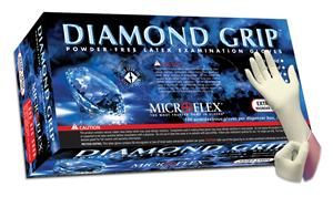 Microflex MF-300-XS Diamond Grip Natural Xtra-Small Powder-Free Latex Gloves - 1000 Glove/Box