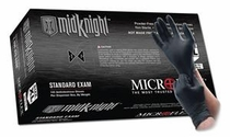 Microflex MK-296 MidKnight™ Black 4.7 mil Ambidextrous Non-Sterile Medical Grade Powder-Free Nitrile Gloves