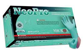 Microflex NPG-888-XS NeoPro® Green Xtra-Small 5.1 mil Powder-Free Textured Fingers Chloroprene Gloves - 100 Glove/Box