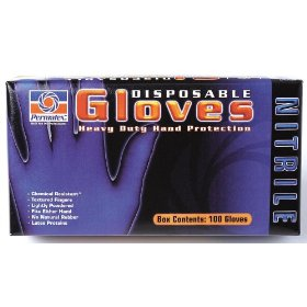 Permatex 09186 Disposable Nitrile Gloves - 100 Ea. Box - Size Extra Large