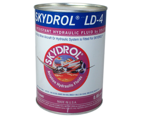 Eastman Skydrol� LD-4 Purple BMS3-11P, Type V, Grade B & C Spec Fire Resistant Hydraulic Fluid - 0.95 Kg (Quart) Can