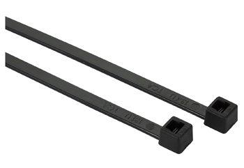 "HellermannTyton T30R0M4 Black 6"" Cable Tie - 30 lb"