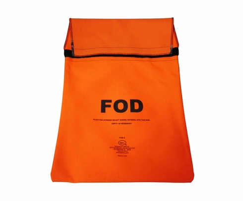 Seitz Scientific FOD-3 Fluorescent Orange FOD Bag attaches to Maintenance Stand Hand Rail