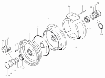 Cleveland 40-101 Wheel Assembly Parts List
