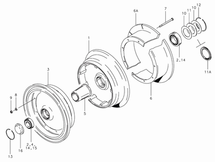 Cleveland 40-102 Wheel Assembly Parts List