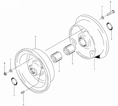 Cleveland 40-103 Wheel Assembly Parts List