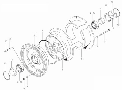 Cleveland 40-106 Wheel Assembly Parts List