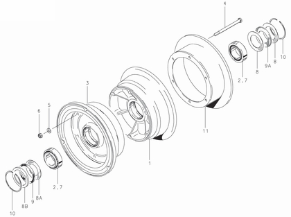 Cleveland 40-111 Wheel Assembly Parts List