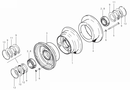 Cleveland 40-113 Wheel Assembly Parts List