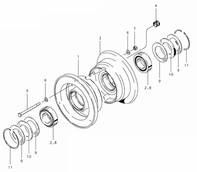 Cleveland 40-115A Wheel Assembly Parts List