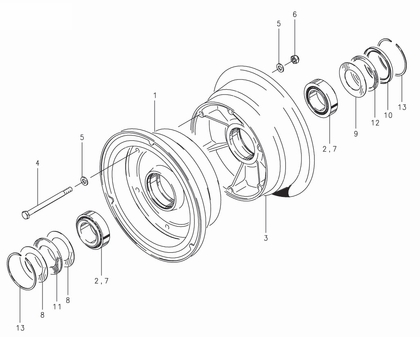 Cleveland 40-117A Wheel Assembly Parts List