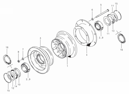 Cleveland 40-120 Wheel Assembly Parts List