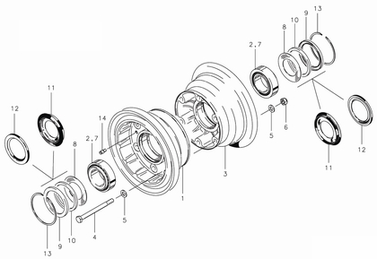 Cleveland 40-120A Wheel Assembly Parts List