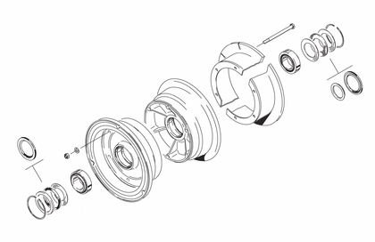 Cleveland 40-124 Wheel Assembly Parts List