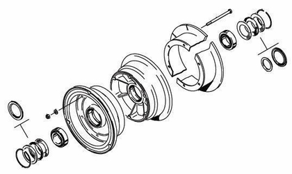 Cleveland 40-128D Wheel Assembly Parts List