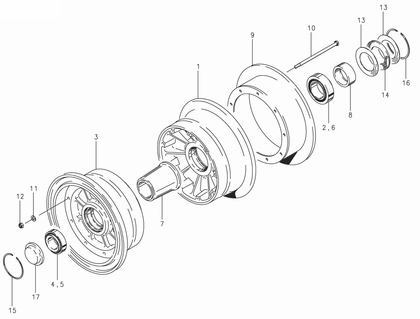 Cleveland 40-133 Wheel Assembly Parts List