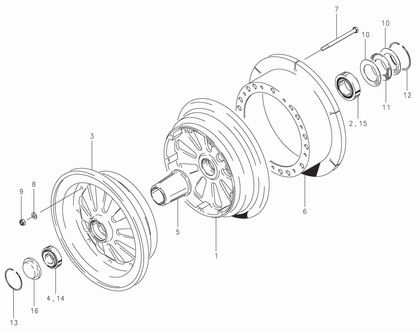 Cleveland 40-134A Wheel Assembly Parts List