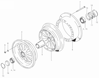 Cleveland 40-138A Wheel Assembly Parts List