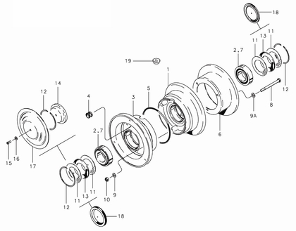 Cleveland 40-151 Wheel Assembly Parts List