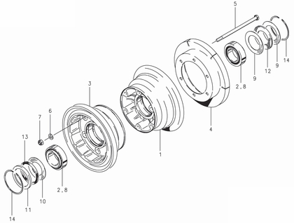 Cleveland 40-163 Wheel Assembly Parts List