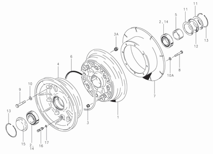 Cleveland 40-166 Wheel Assembly Parts List
