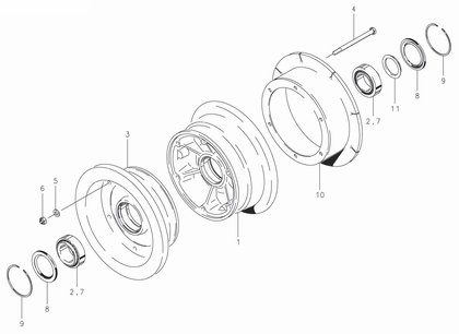 Cleveland 40-171 Wheel Assembly Parts List