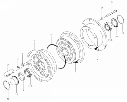 Cleveland 40-172 Wheel Assembly Parts List