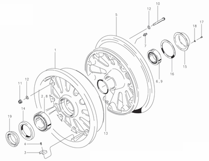 Cleveland 40-174 Wheel Assembly Parts List