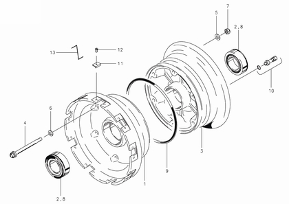 Cleveland 40-181B Wheel Assembly Parts List