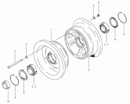 Cleveland 40-193 Wheel Assembly Parts List