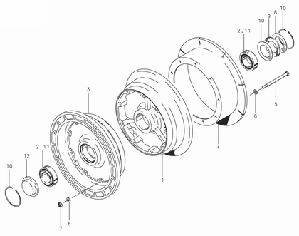 Cleveland 40-195 Wheel Assembly Parts List