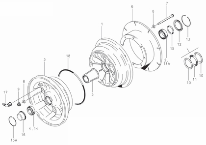 Cleveland 40-198 Wheel Assembly Parts List