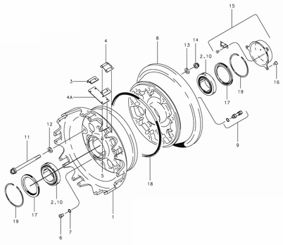 Cleveland 40-202 Wheel Assembly Parts List
