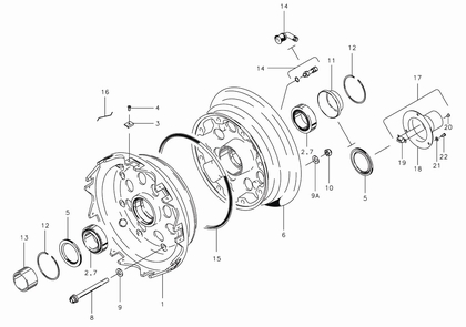 Cleveland 40-203 Wheel Assembly Parts List