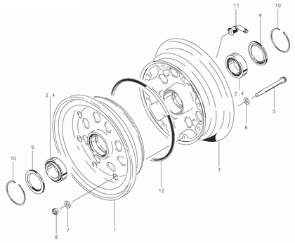 Cleveland 40-204 Wheel Assembly Parts List