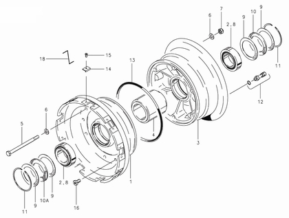 Cleveland 40-205 Wheel Assembly Parts List