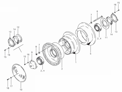Cleveland 40-21 Wheel Assembly Parts List