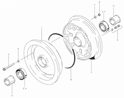 Cleveland 40-212 Wheel Assembly Parts List
