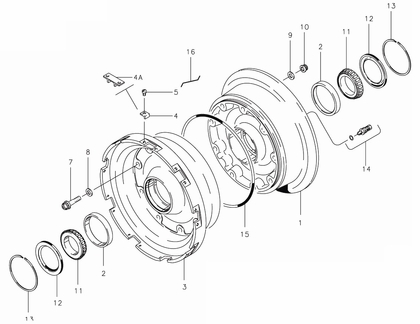 Cleveland 40-240A Wheel Assembly Parts List