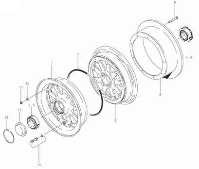 Cleveland 40-255 Wheel Assembly Parts List