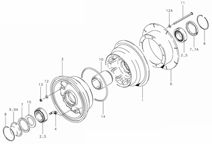Cleveland 40-279 Wheel Assembly Parts List