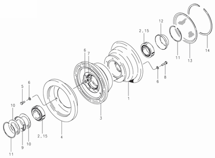 Cleveland 40-4 Wheel Assembly Parts List