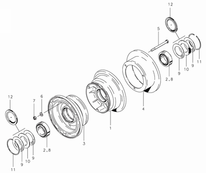 Cleveland 40-414 Wheel Assembly Parts List