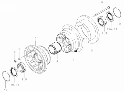 Cleveland 40-418B Wheel Assembly Parts List